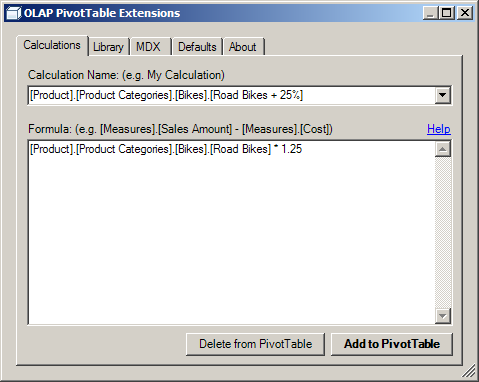 Calculations Help | OLAP PivotTable Extensions