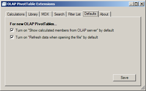 OLAP PivotTable Extensions | An Excel add-in which extends